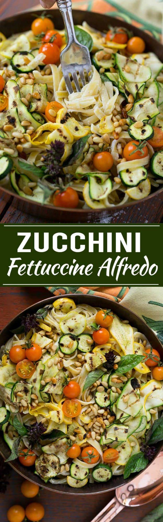 Zucchini Fettuccine Alfredo Recipe | Healthy Zucchini Fettuccine Alfredo | Lighter Zucchini Fettuccine Alfredo | Best Zucchini Fettuccine Alfredo