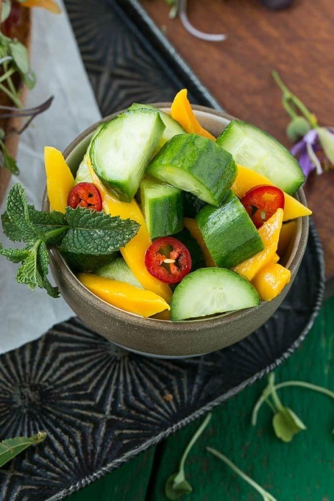 Cucumber Mango Salad