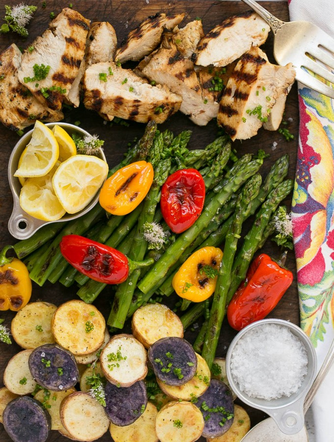 One Dish Grilled Chicken Dinner