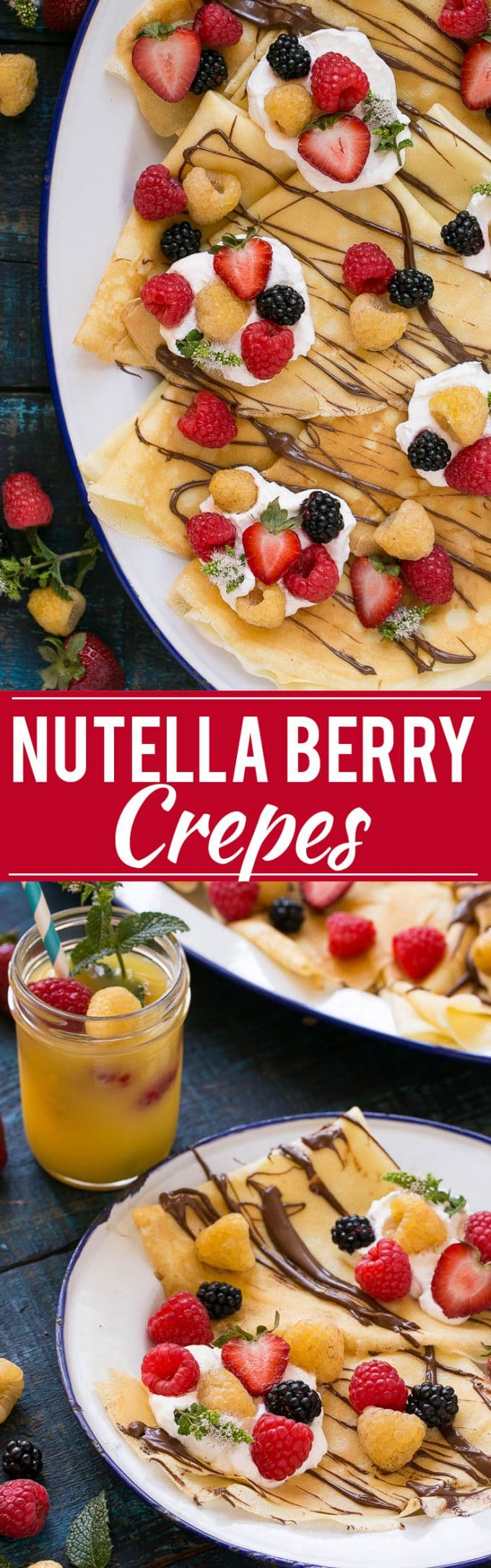 Nutella Crepes with Berries Recipe | Crepes with Berries and Nutella | Best Crepes | Easy Crepes
