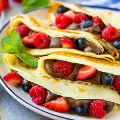 Nutella Crepes with Berries