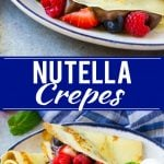 Nutella Crepes Recipe | Easy Crepes Recipe | Blender Crepes | Berry Crepes