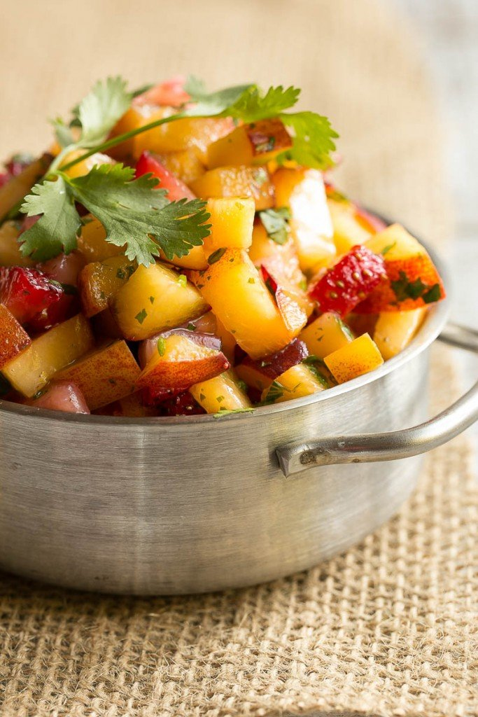 Strawberry peach salsa.