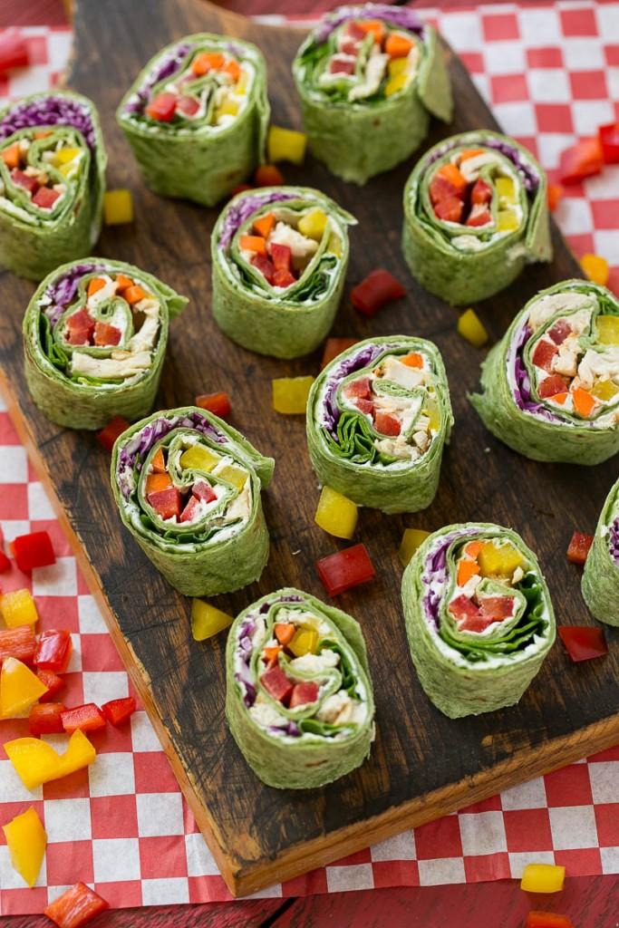 Rainbow Veggie Pinwheels Amp Asian Quinoa Salad Dinner At