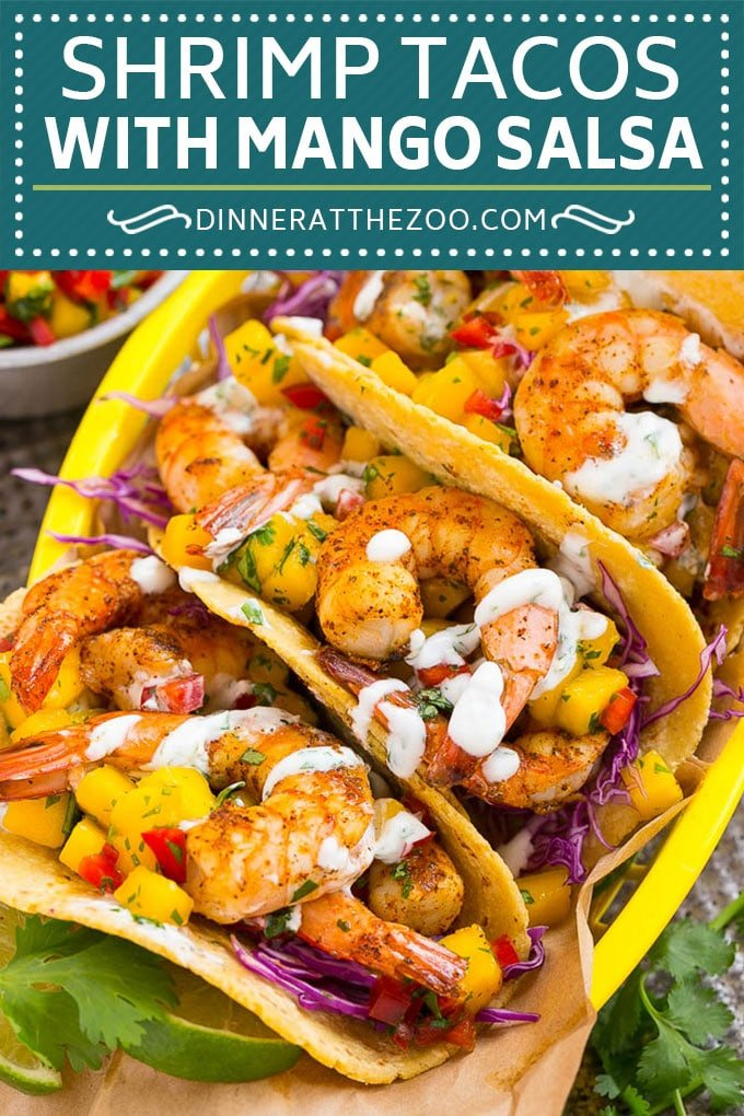 Shrimp Tacos Recipe | Seafood Tacos #shrimp #tacos #mango #tacotuesday #mexican #dinner #dinneratthezoo