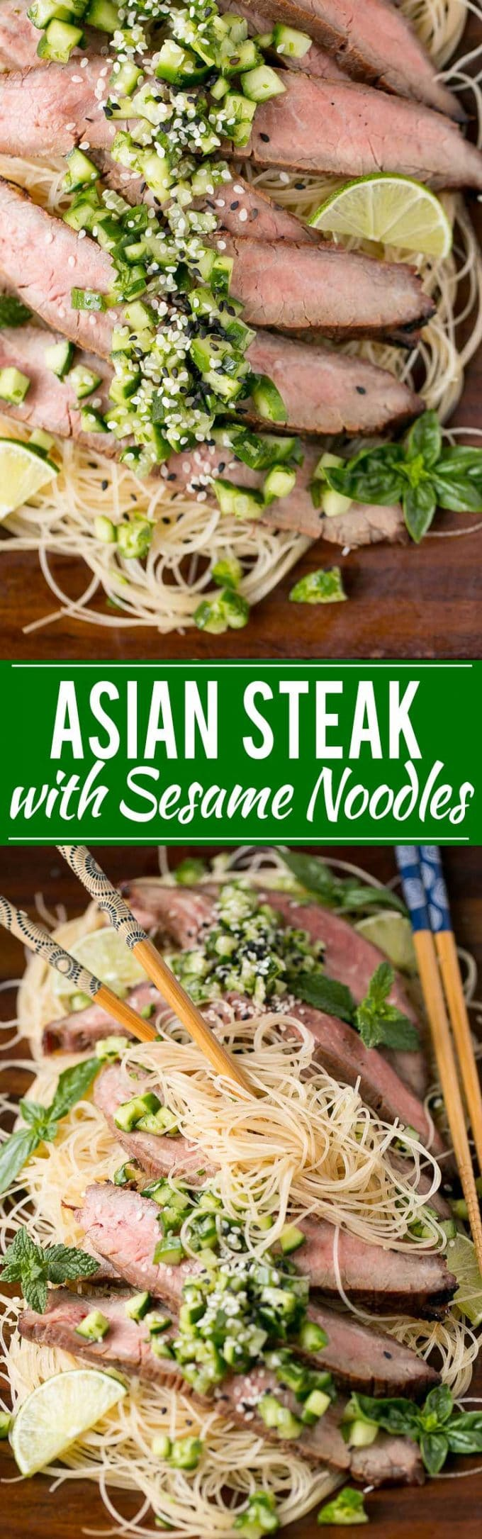 Soy Marinated Flank Steak Recipe | Cucumber Relish Recipe | Best Marinated Steak | Soy Marinade | Best Cucumber Relish | Asian Marinated Steak | Best Asian Marinated Flank Steak | Asian Steak with Sesame Noodles