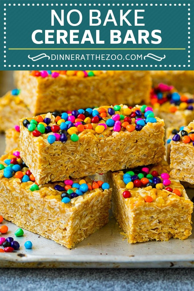 Cereal Bars Recipe | No Bake Bars | Peanut Butter Bars #cereal #breakfast #mealprep #peanutbutter #oatmeal #dinneratthezoo