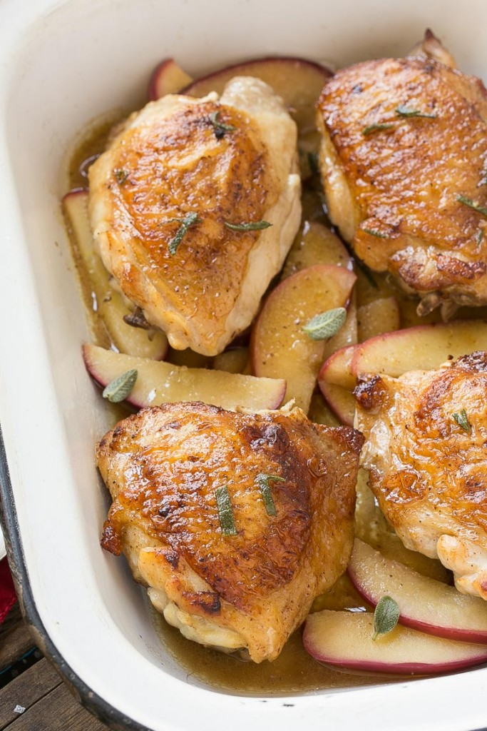 This cider glazed chicken is the perfect dinner for a busy weeknight - it only has 6 ingredients and is ready in 30 minutes.