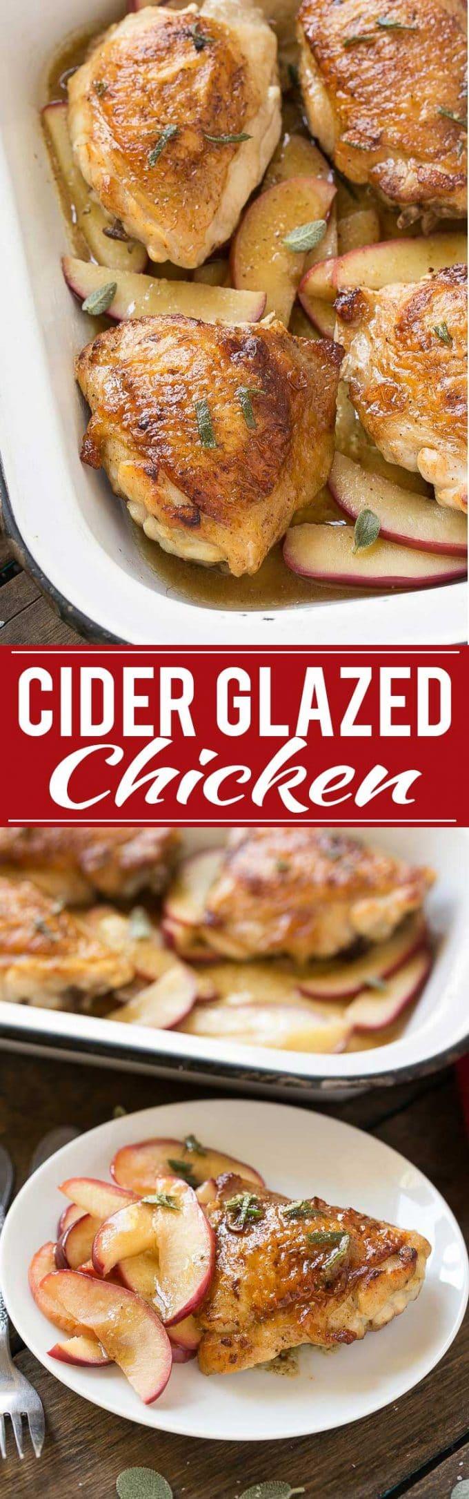 Cider Glazed Chicken Recipe   Cider Glazed Chicken   Cider Chicken   Apple Cider Chicken   Apple Chicken   Best Cider Glazed Chicken   Easy Cider Glazed Chicken