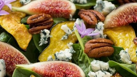 Fig Salad with Spinach