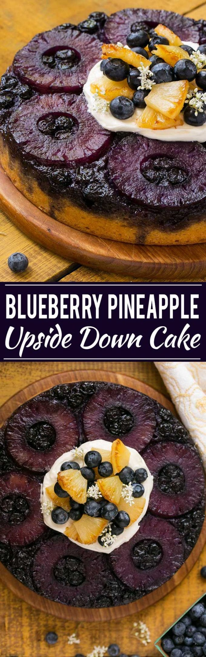 Blueberry Pineapple Upside Down Cake Recipe | Best Pineapple Upside Down Cake | Easy Pineapple Upside Down Cake | Blueberry Cake | Blueberry Upside Down Cake