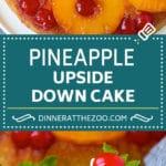 Pineapple Upside Down Cake | Pineapple Cake #cake #pineapple #dessert #cherries #dinneratthezoo