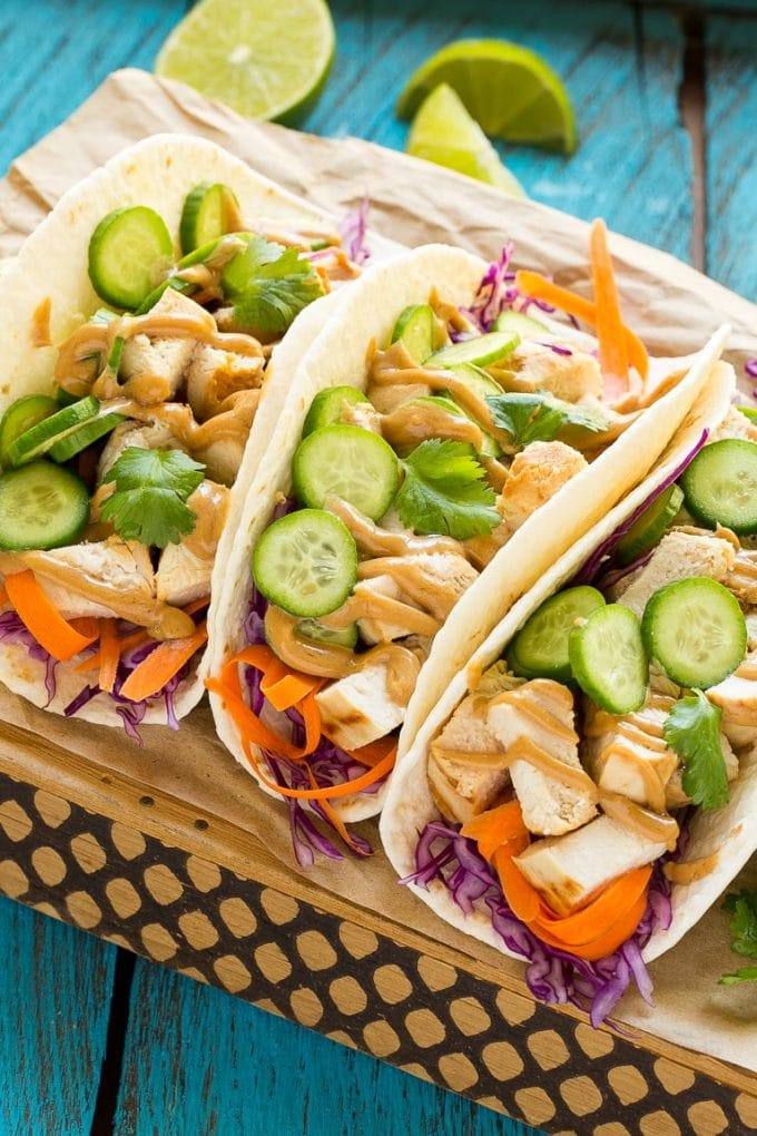 Thai Chicken Tacos - Dinner at the Zoo