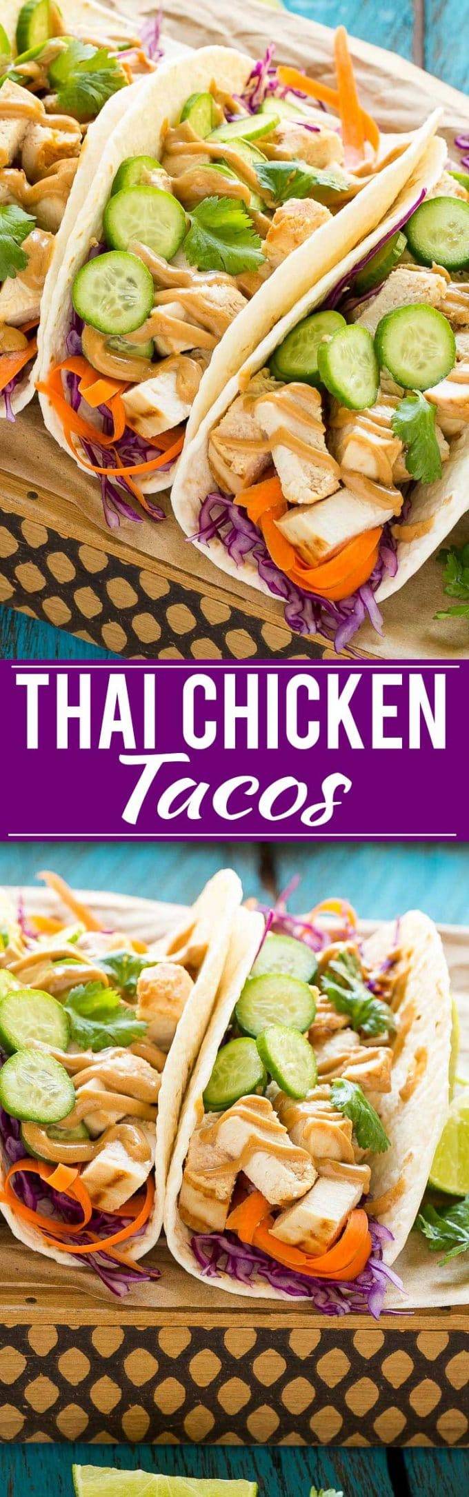 Thai Chicken Tacos Recipe | Thai Chicken Tacos with Peanut Sauce | Peanut Sauce | Thai Tacos