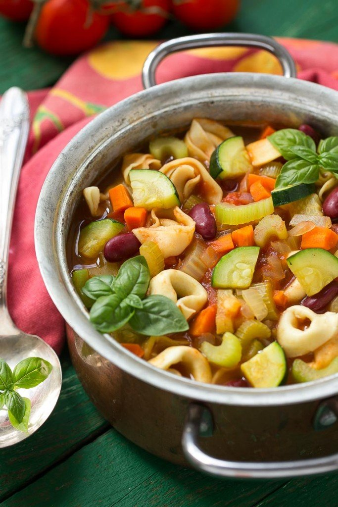 Tortellini Minestrone Soup - Dinner at the Zoo