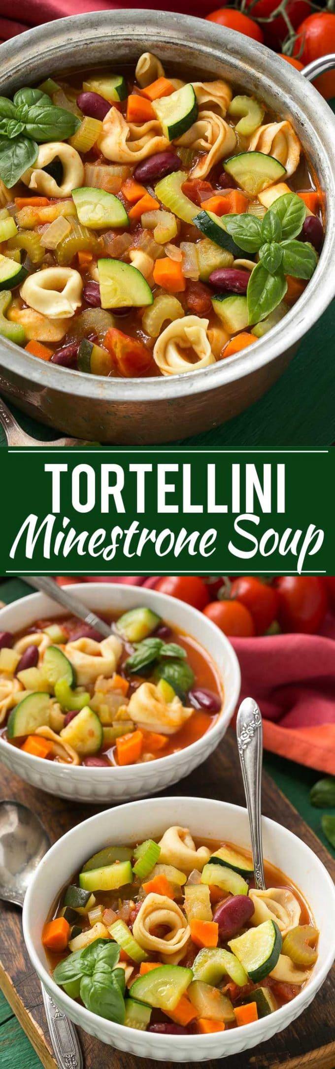 Tortellini Minestrone Soup Recipe | Pasta Minestrone Soup | Italian Pasta Minestrone Soup | Tortellini Minestrone Soup
