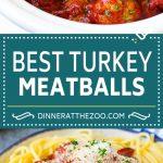 Slow Cooker Turkey Meatballs | Spaghetti and Meatballs #crockpot #slowcooker #turkey #meatballs #dinner #dinneratthezoo
