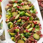 Pomegranate Pecan Brussels Sprouts