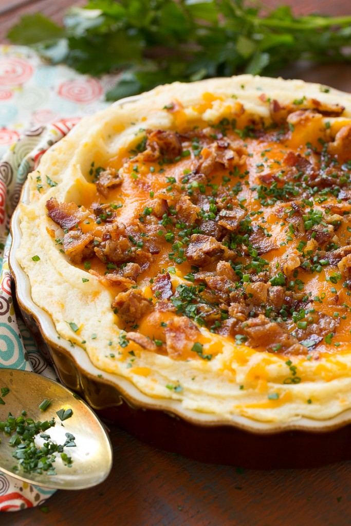 ... mashed potato casserole is full of bacon cheese sour cream and chives