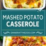 Loaded Mashed Potato Casserole Recipe   Loaded Potatoes   Bacon Mashed Potatoes   Thanksgiving Mashed Potatoes #potatoes #bacon #cheese #casserole #Thanksgiving #dinner #dinneratthezoo