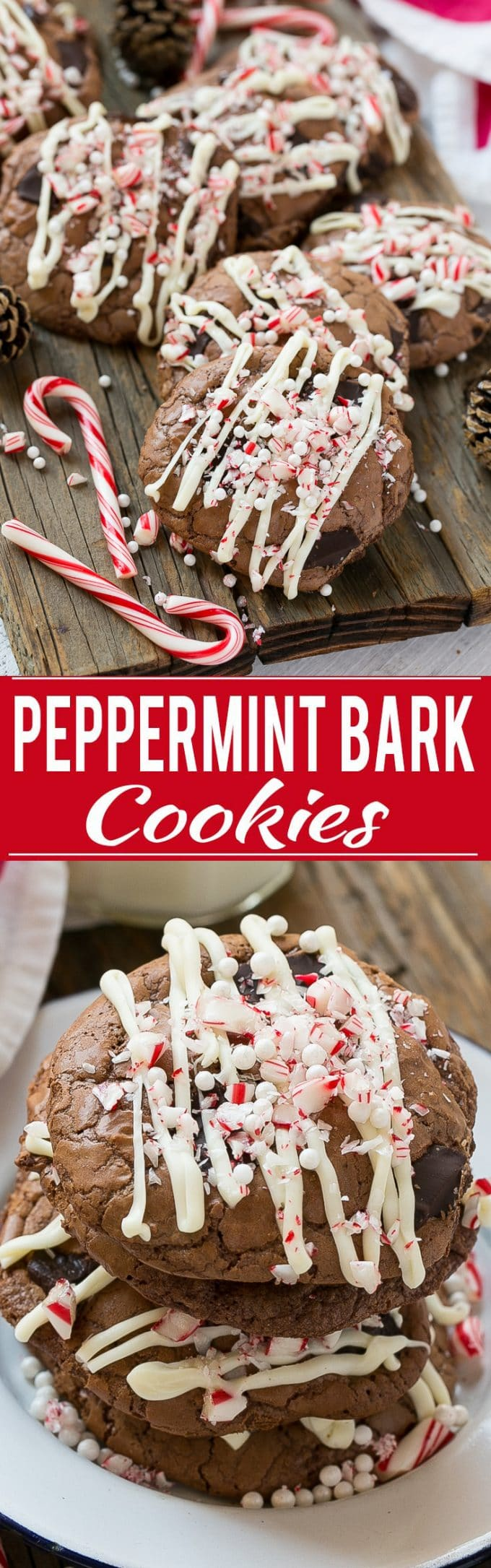Peppermint Bark Cookie Recipe | Peppermint Bark Cookies | Best Peppermint Bark Cookies | Easy Peppermint Bark Cookies | Holiday Peppermint Bark Cookies | Peppermint Bark Cookies | Chocolate Peppermint Cookies