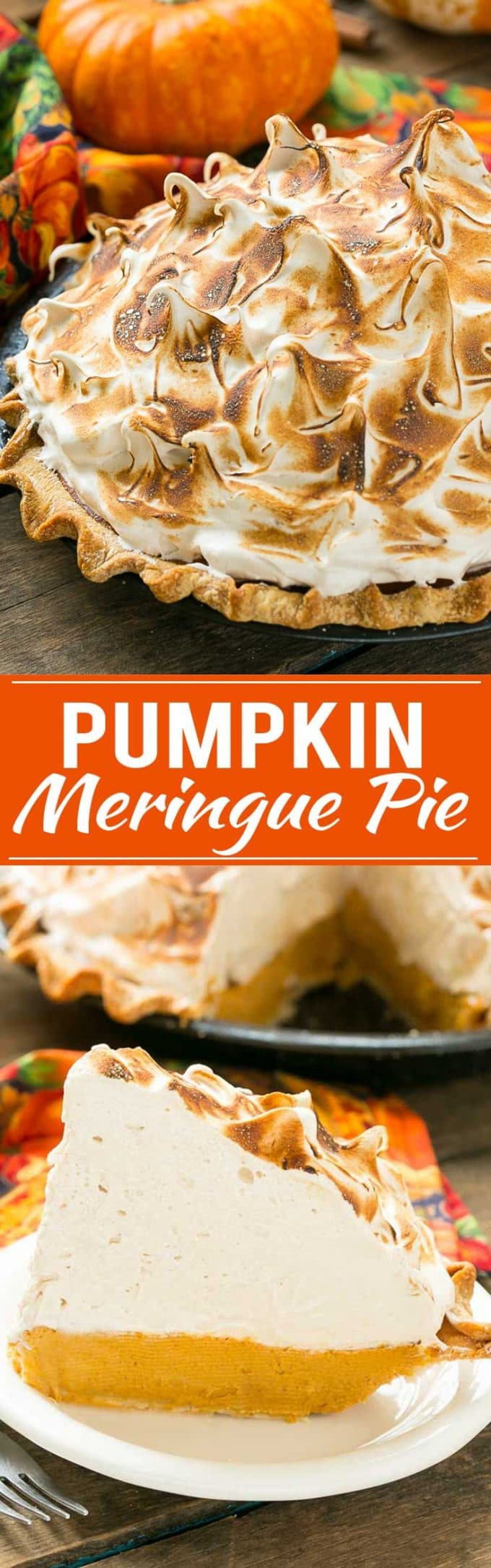 Pumpkin Meringue Pie Recipe | Brown Sugar Meringue | Best Pumpkin Pie | Best Pumpkin Meringue Pie | Creamy Pumpkin Pie
