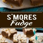 S'mores fudge with a crunchy graham cracker crust, creamy chocolate fudge filling and plenty of toasted marshmallows on top. The best fudge I've ever had!