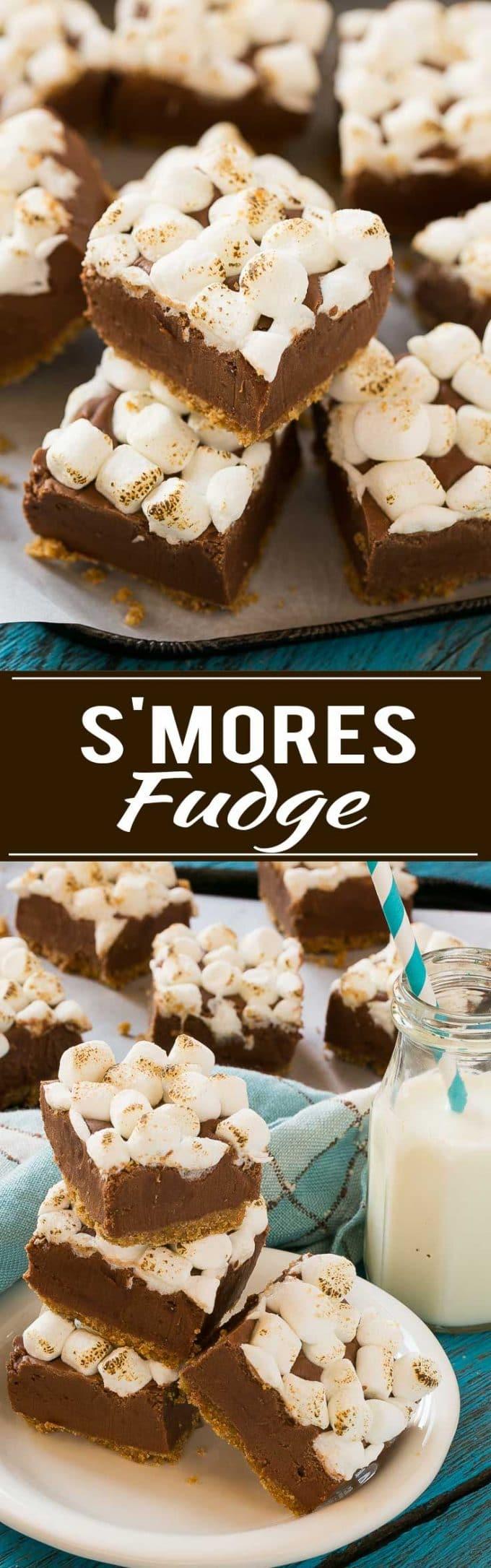 S'mores Fudge Recipe | Best S'mores Fudge | Easy S'mores Fudge | Fun Fudge Recipe