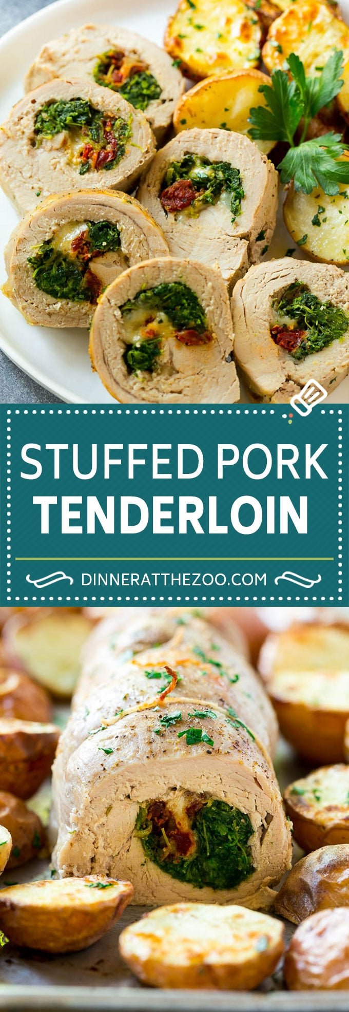 Stuffed Pork Tenderloin Recipe | Roasted Pork Tenderloin | Italian Pork #pork #onepan #potatoes #dinner #dinneratthezoo #glutenfree