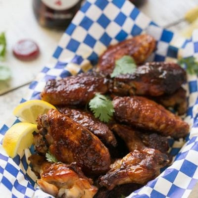 Baked Barbecue Chicken Wings