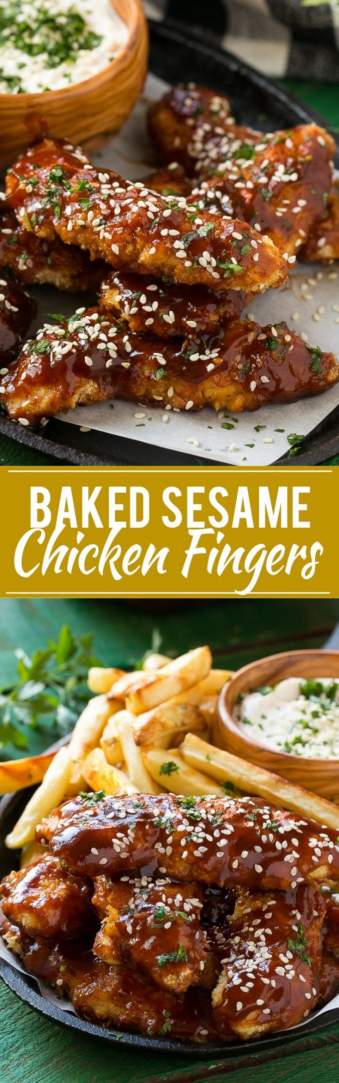 Sesame Chicken Fingers | Baked Chicken Fingers #chicken #dinner #dinneratthezo