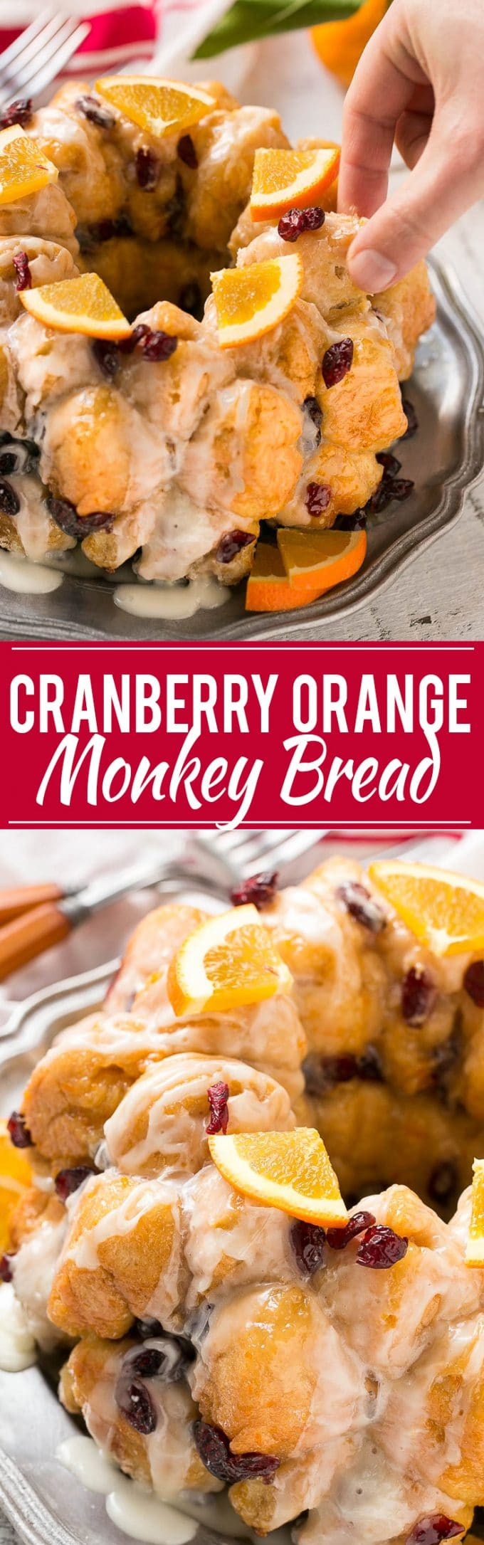 Cranberry Orange Pull Apart Monkey Bread Recipe| Cranberry Orange Monkey Bread | Easy Cranberry Orange Pull Apart Bread | Pull Apart Monkey Bread | Best Pull Apart Monkey Bread | Cranberry Orange Bread
