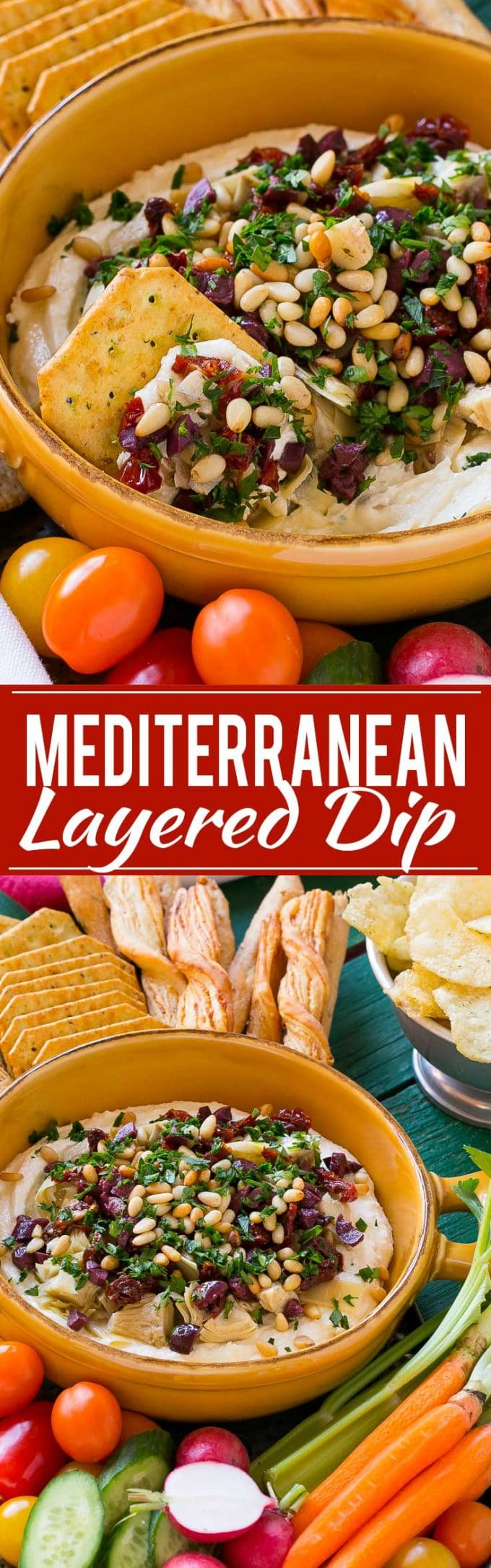 Mediterranean Layered Dip Recipe | Mediterranean Dip Recipe | Greek Dip Recipe | Layered Feta Cheese Dip | Easy Mediterranean Dip | Best Feta Cheese Dip