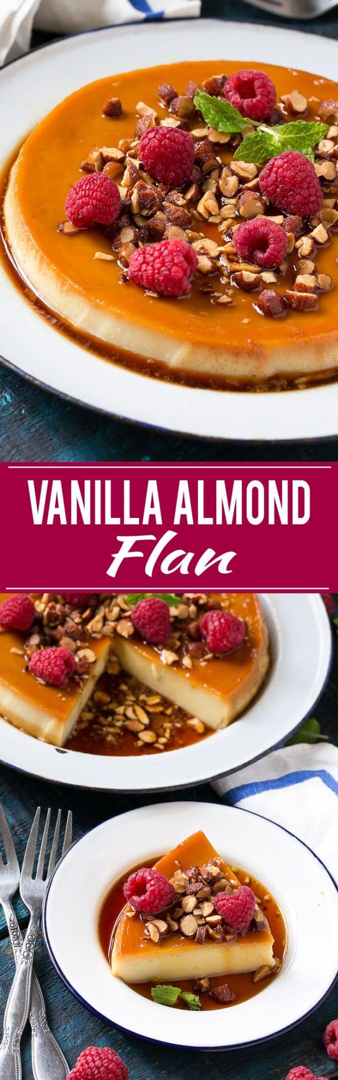 Vanilla Almond Flan Recipe | Vanilla Almond Flan | Vanilla Flan | Best Vanilla Almond Flan | Easy Vanilla Almond Flan