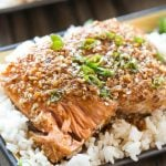 Almond Crusted Salmon with Honey Garlic Sauce