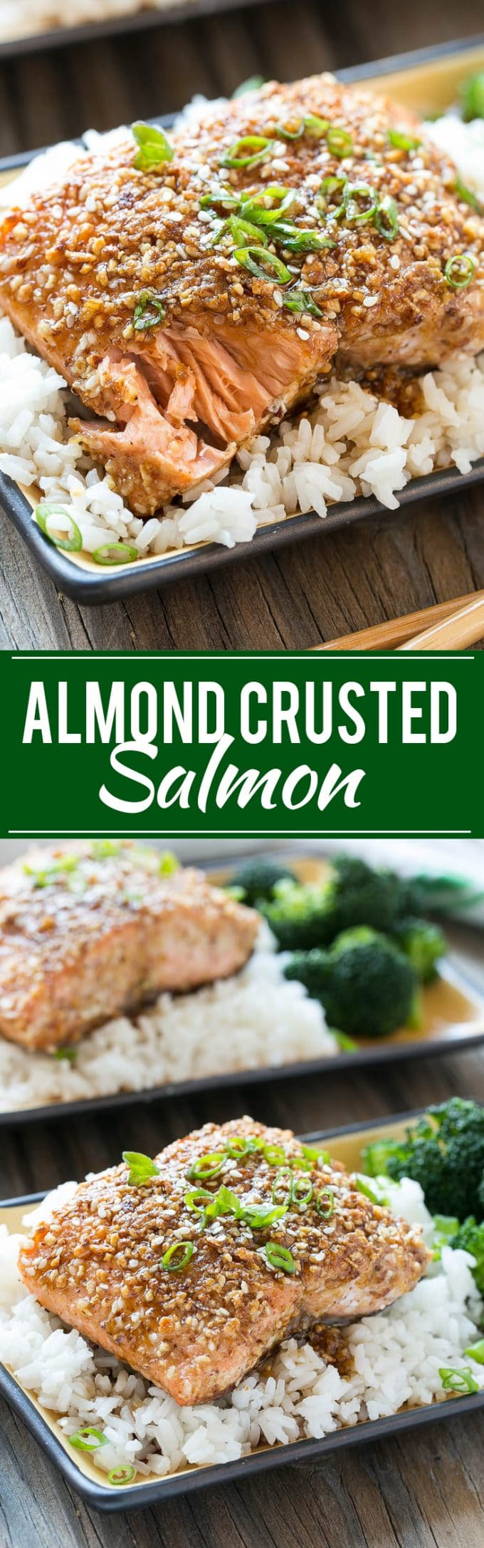 Almond Crusted Salmon with Honey Garlic Sauce Recipe | 7 Ingredient Meal | Almond Crusted Chicken | Honey Garlic Sauce | Honey Garlic Chicken