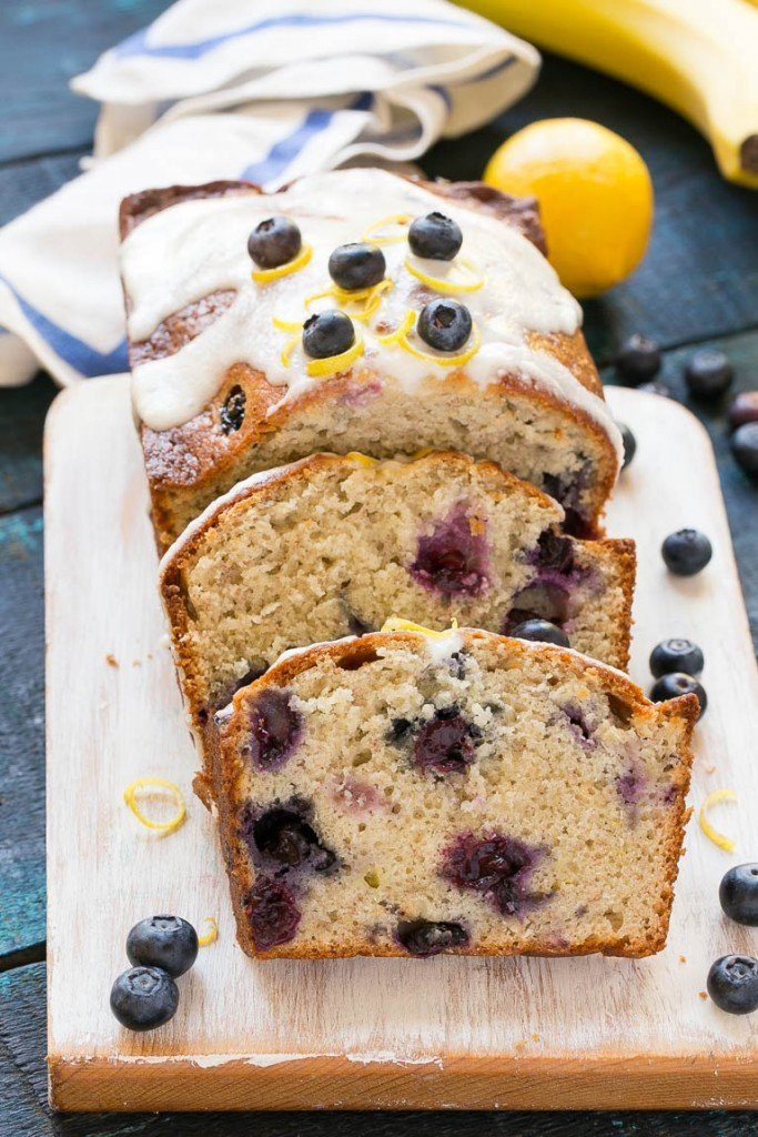 for blueberry banana bread is a moist loaf of the classic sweet bread ...