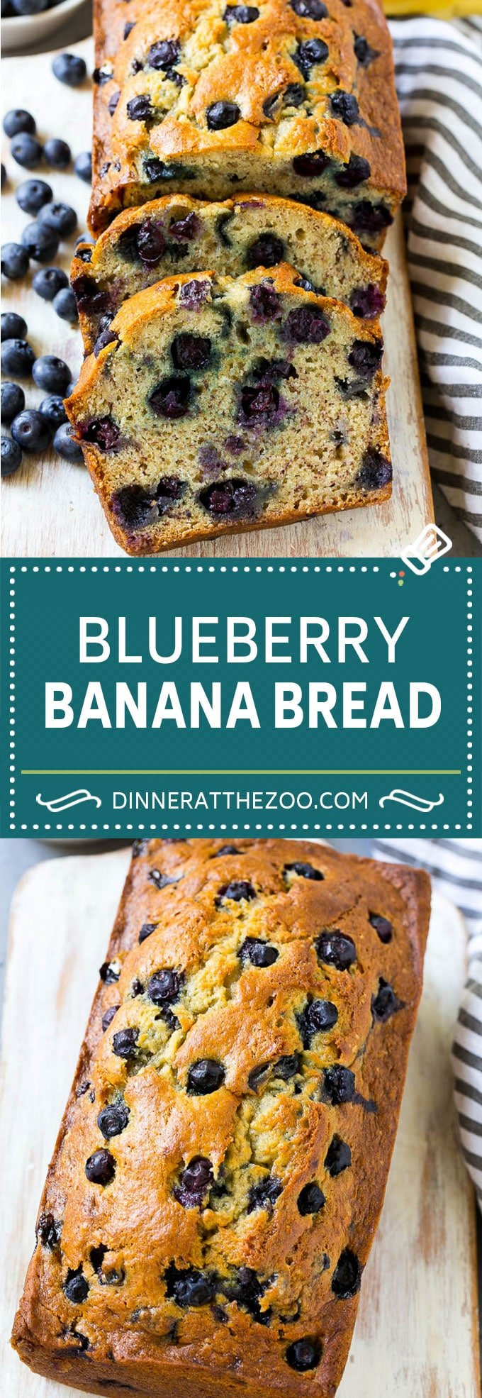 Blueberry Banana Bread | Easy Banana Bread | Homemade Banana Bread Recipe #blueberry #banana #bread #baking #sweets #dinneratthezoo