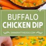 Buffalo Ranch Chicken Dip | Buffalo Chicken Dip | Baked Buffalo Dip | Cheesy Buffalo Dip