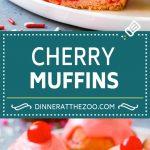 Cherry Muffins Recipe   Maraschino Cherry Muffins #cherries #cherry #muffins #baking #dessert #sweets #dinneratthezoo
