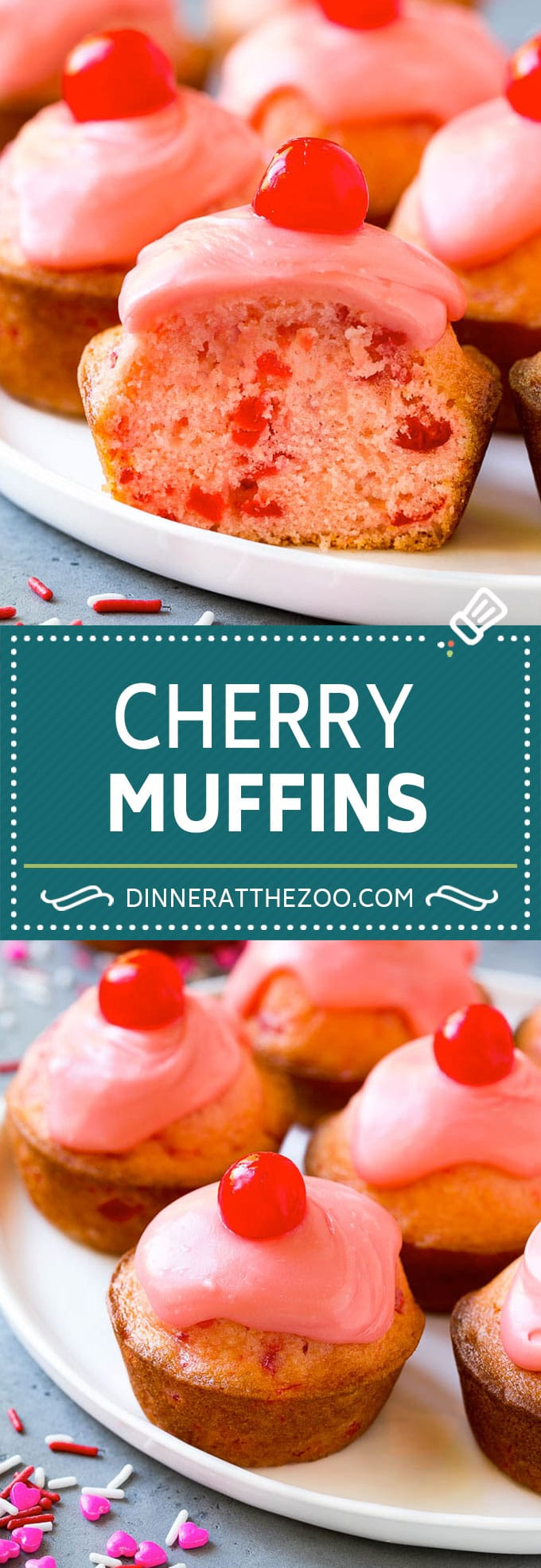 Cherry Muffins Recipe | Maraschino Cherry Muffins #cherries #cherry #muffins #baking #dessert #sweets #dinneratthezoo
