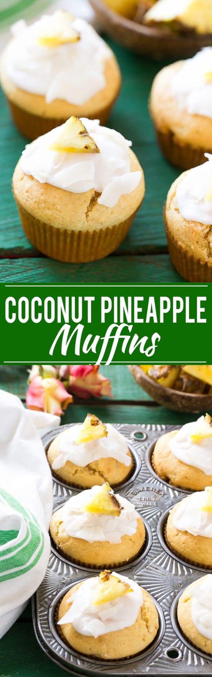 Coconut Pineapple Muffin Recipe | Coconut Pineapple Muffins | Best ...