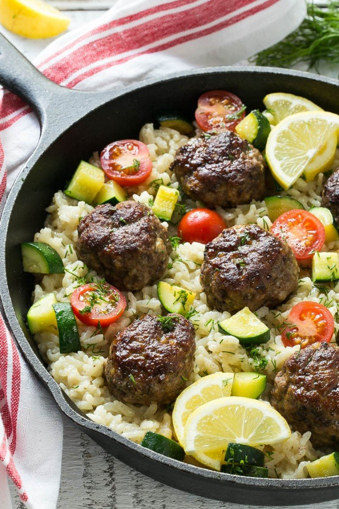 One pot greek meatballs with lemon dill rice dinner at the zoo this recipe for one pot greek meatballs with lemon dill rice includes savory greek spiced beef meatballs creamy arborio rice and vegetables forumfinder Choice Image