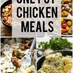 A list of the 10 best healthy one pot meals with chicken that are perfect for those busy weeknights when you need a quick and easy dinner.