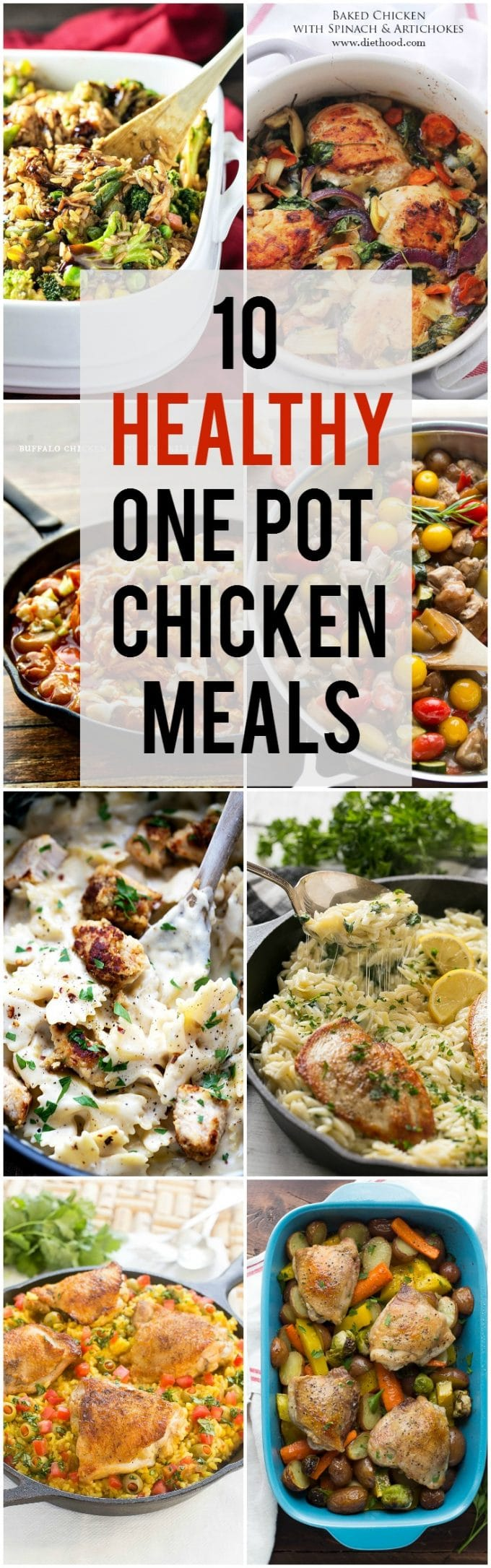 Healthy One Pot Chicken Meals | Chicken Dinners | Healthy Dinners #dinner #healthy #chicken