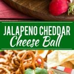 This Jalapeno Cheddar Cheese Ball is full of zesty Mexican flavor and takes just minutes to make. The perfect snack for game day! #KickUpTheFlavor Ad