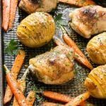 Maple Dijon Chicken with Hasselback Potatoes & Carrots
