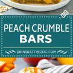Peach Crumble Bars   Peach Bars   Peach Dessert #peaches #dessert #sweets #baking #dinneratthezoo