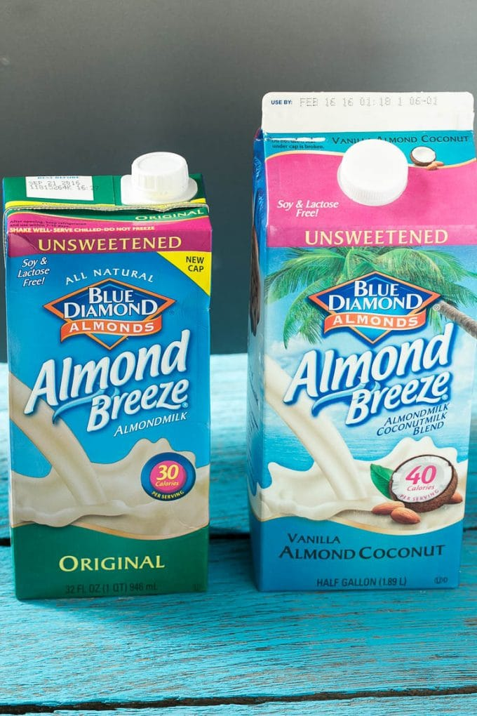 Almond Breeze almond milk.