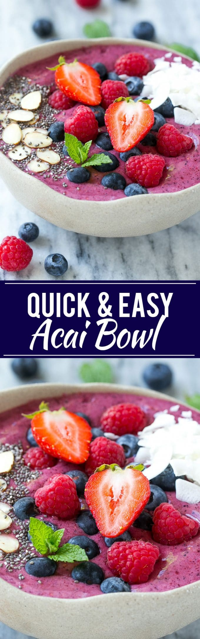 Quick and Easy Acai Bowl Recipe | Quick Acai Bowl Recipe | Easy Acai Bowl Recipe | Best Acai Bowl Recipe